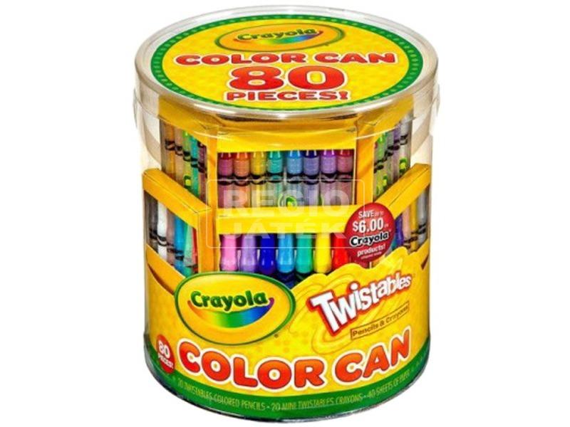 Crayola: 80 darabos rajzkészlet hengerben