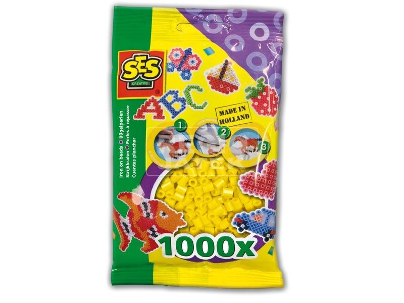 Vasalható gyöngy 1000 darabos - sárga