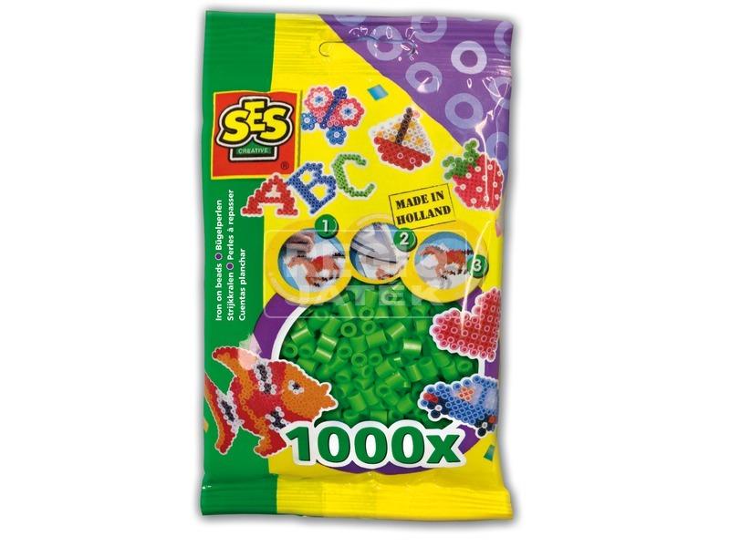 Vasalható gyöngy 1000 darabos - zöld