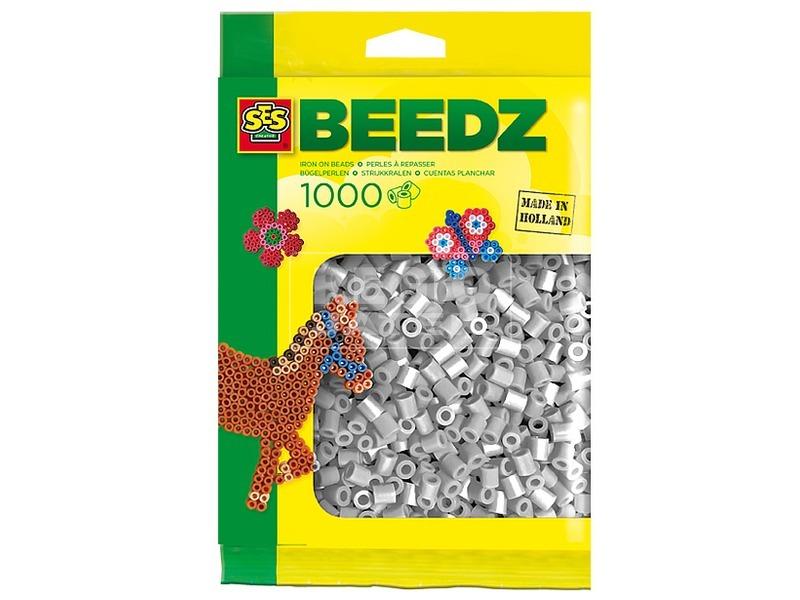 Vasalható gyöngy 1000 darabos - szürke