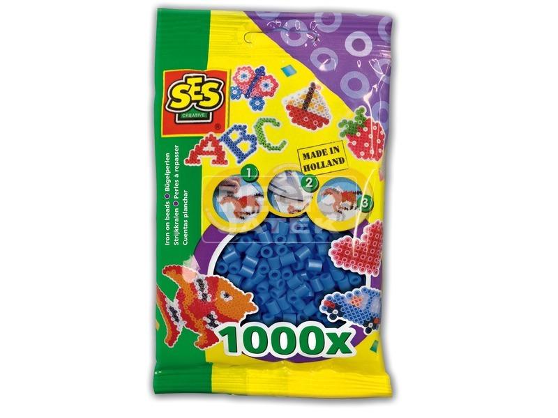 Vasalható gyöngy 1000 darabos készlet - sötétkék
