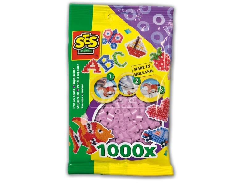 Vasalható gyöngy 1000 darabos - metál rózsaszín