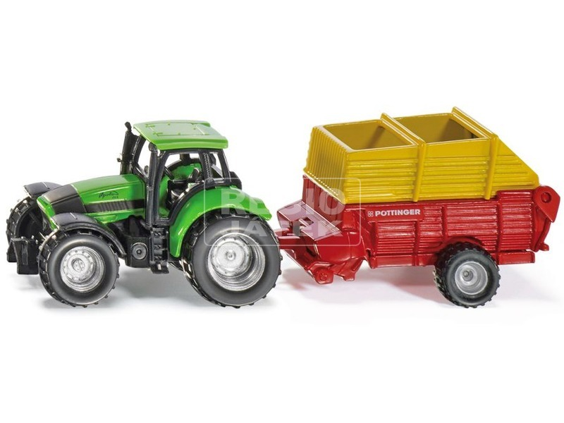 kép nagyítása Siku: Deutz traktor vető utánfutóval 1:87 - 1676