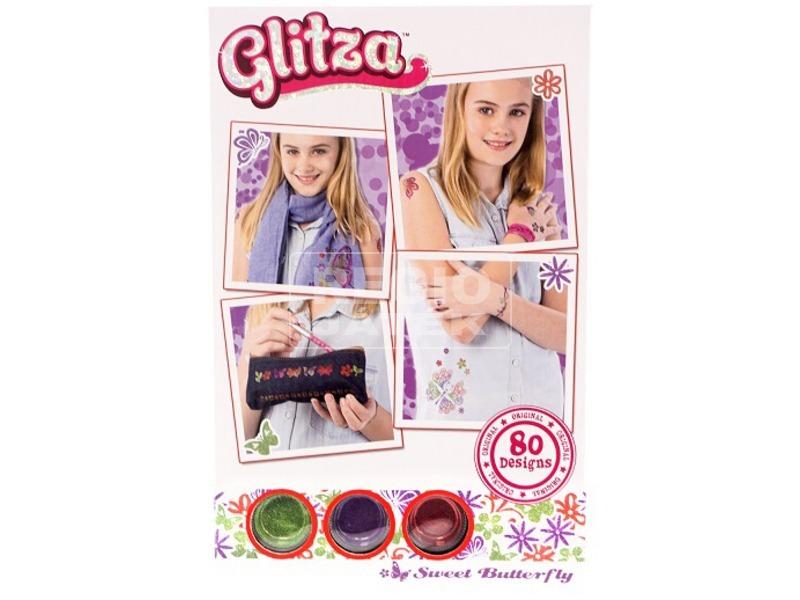 Glitza pillangók 80 darabos tetováló matrica