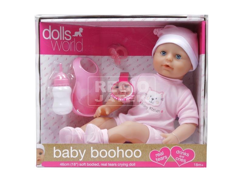 Baba, baby Boohoo, 46 cm, igazi könnyekkel sír, kiegészítőkkel