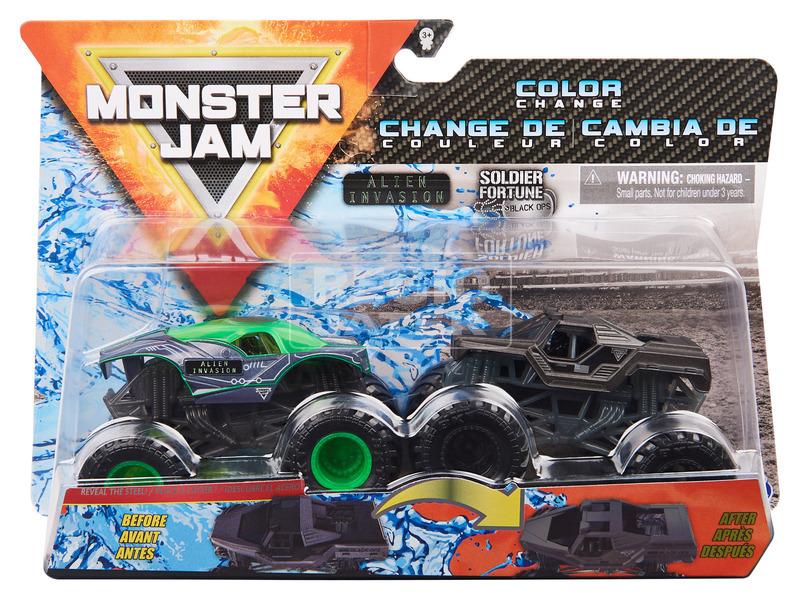 kép nagyítása Monster Jam kisautó 2 darabos - 1:64, többféle