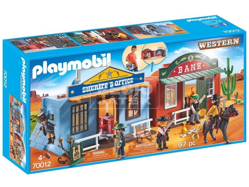 Playmobil Hordozható western város 70012