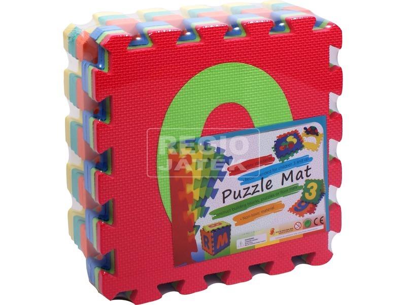 Habszivacs 9 darabos szőnyeg puzzle számokkal
