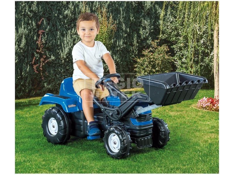 kép nagyítása Traktor Ranchero pedálos kotróval dudával