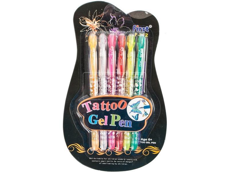 Tetováló toll 6 darabos készlet