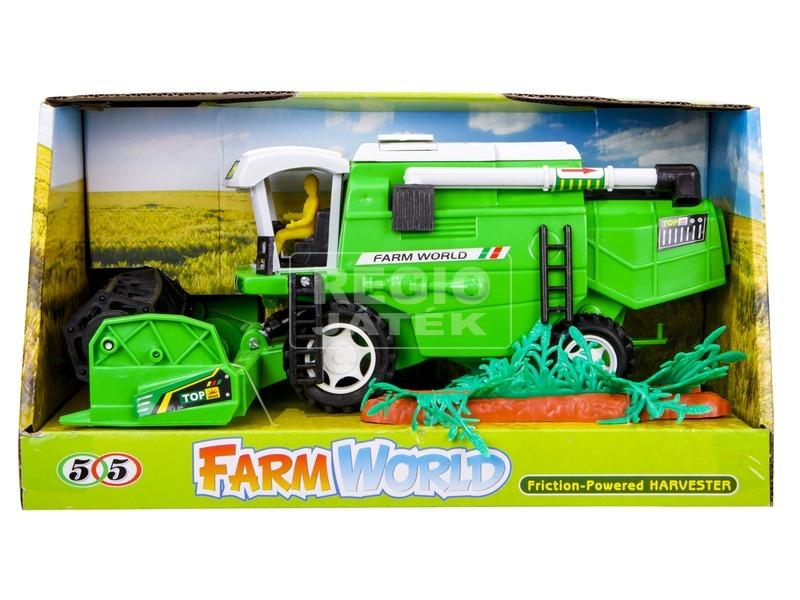 Farm World műanyag kombájn - 28 cm, többféle