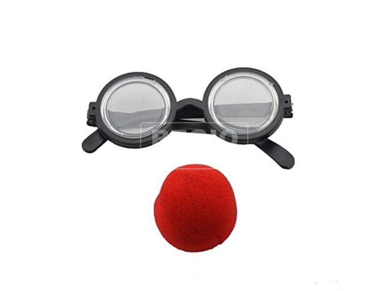 Bohóc szemüveg és orr