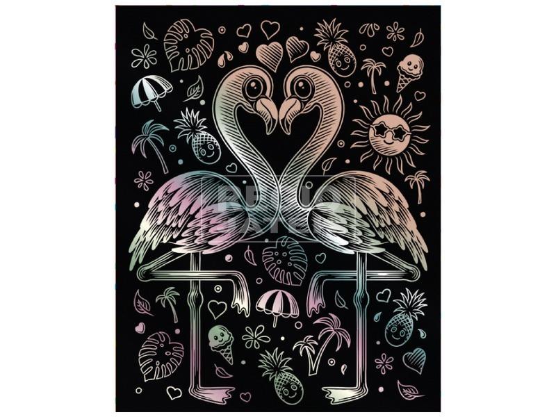 Flamingó hologramos képkarcoló