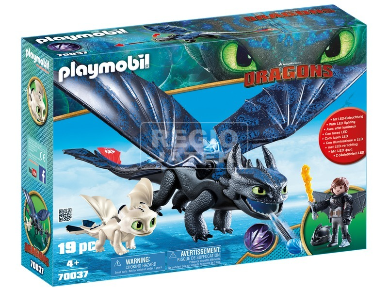 Playmobil Fogatlan és Hablaty kis sárkánnyal 70037