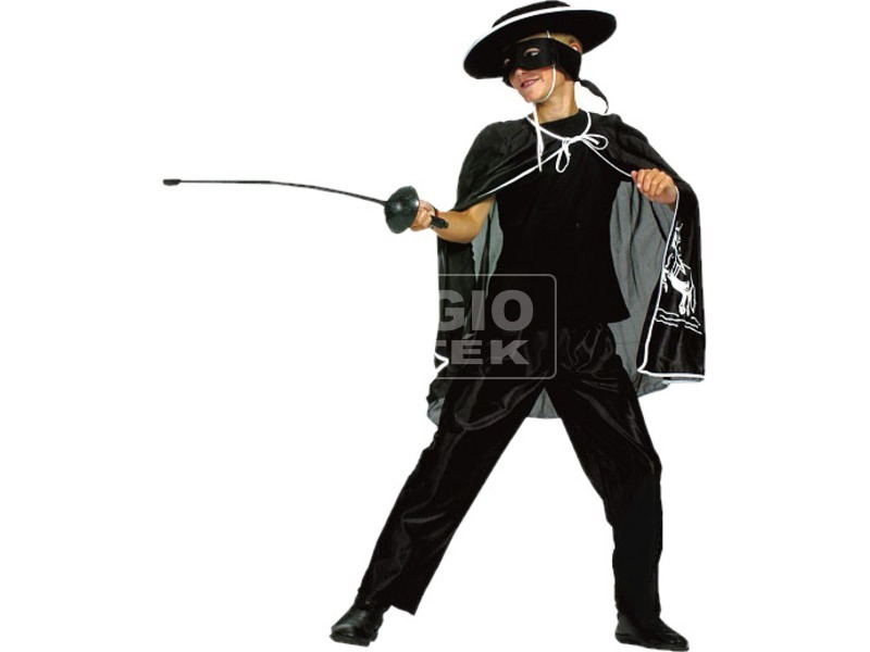 Zorro jelmez - 140 cm-es méret