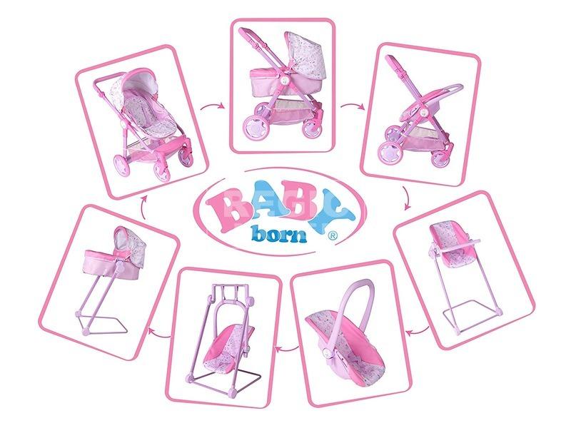 kép nagyítása Baby Born többfunkciós babakocsi