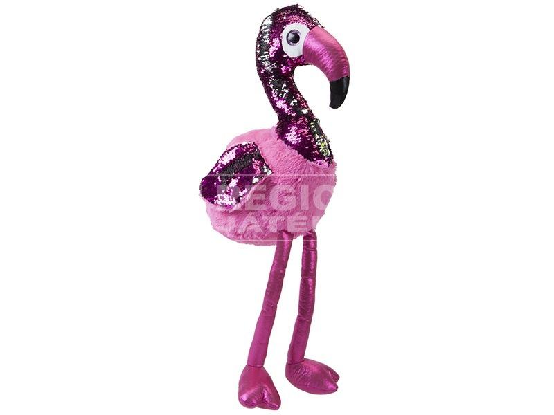 kép nagyítása Flitteres flamingó plüssfigura - 28 cm, többféle