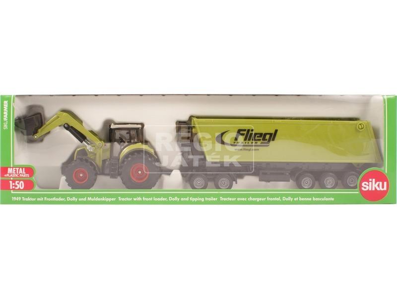 Traktor emelővel és trélerrel