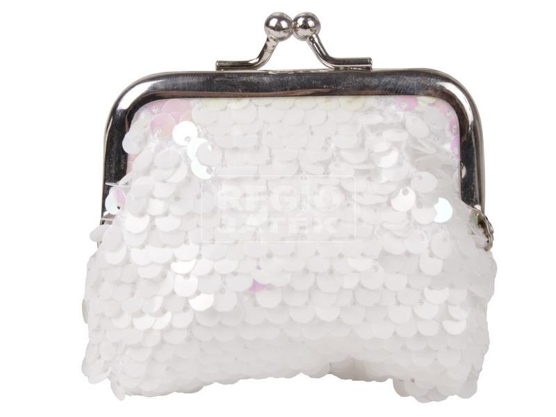 kép nagyítása Flitteres pénztárca - 9 x 8 cm, többféle