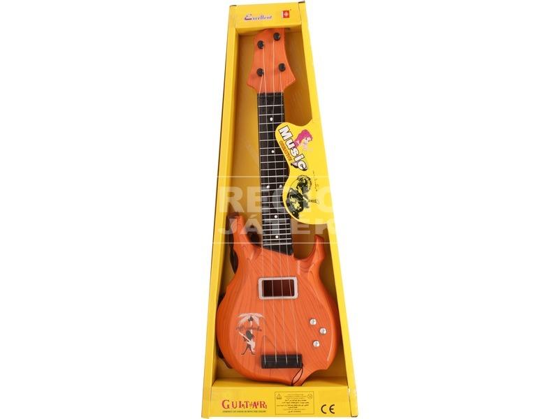 Rock gitár fa mintázattal - 50 cm
