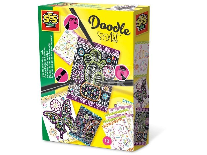 Doodle Art kifesthető képek készlet