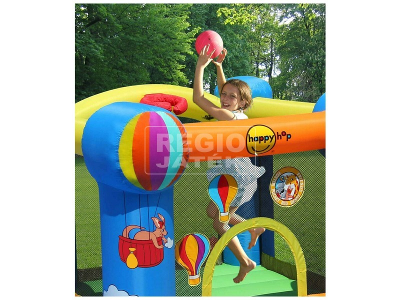 kép nagyítása Hőlégballon ugrálóvár - 280 x 210 x 185 cm