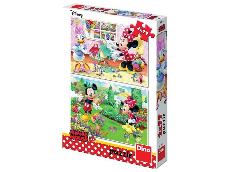 Szorgalmas Minnie egér 2 x 77 darabos puzzle