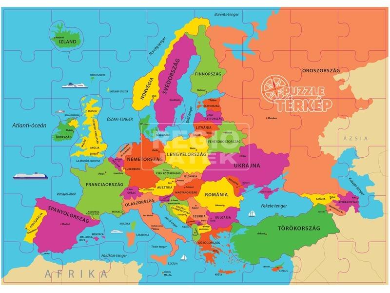 Regio Jatek Europa Terkep Magyarul 48 Darabos Puzzle