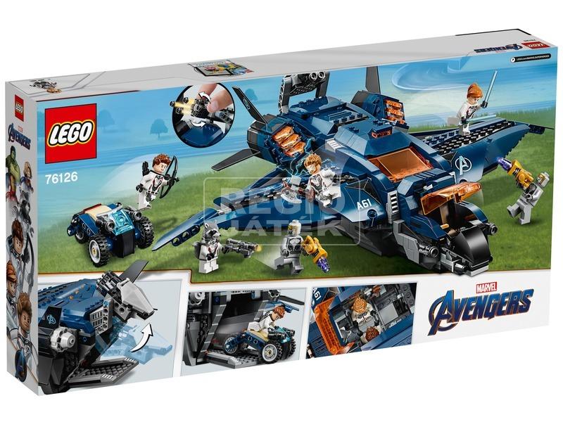 kép nagyítása LEGO® Super Heroes Bosszúállók quinjet 76126