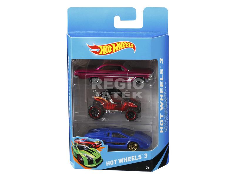 Hot Wheels kisautó 3 darabos készlet - többféle
