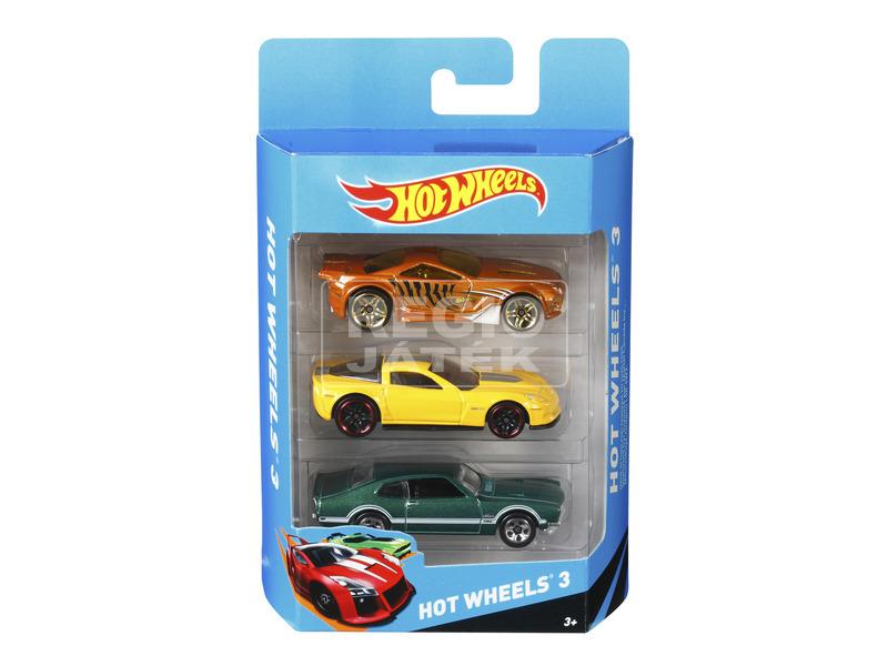 kép nagyítása Hot Wheels kisautó 3 darabos készlet - többféle