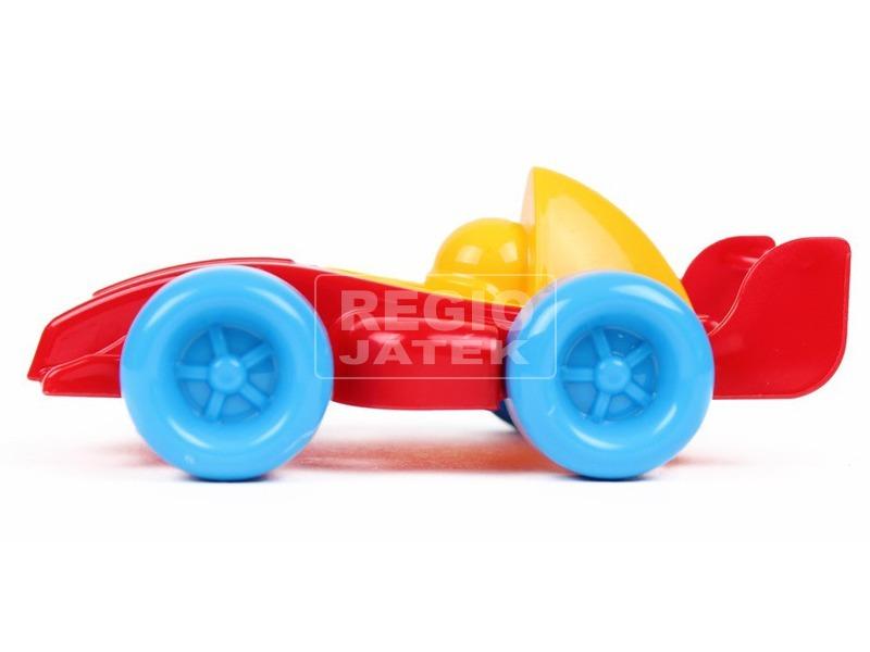kép nagyítása Műanyag versenyautó - piros, 10 cm