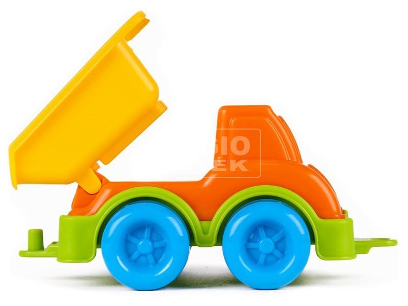 kép nagyítása Műanyag dömper - narancssárga, 11 cm