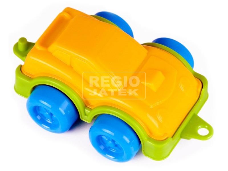 kép nagyítása Műanyag sportautó - sárga, 11 cm