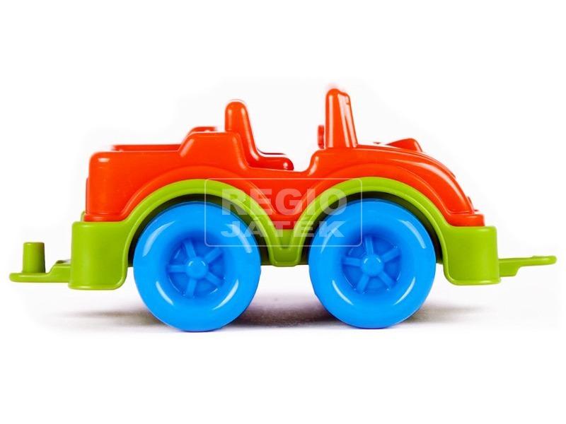 Műanyag terepjáró - narancssárga, 11 cm