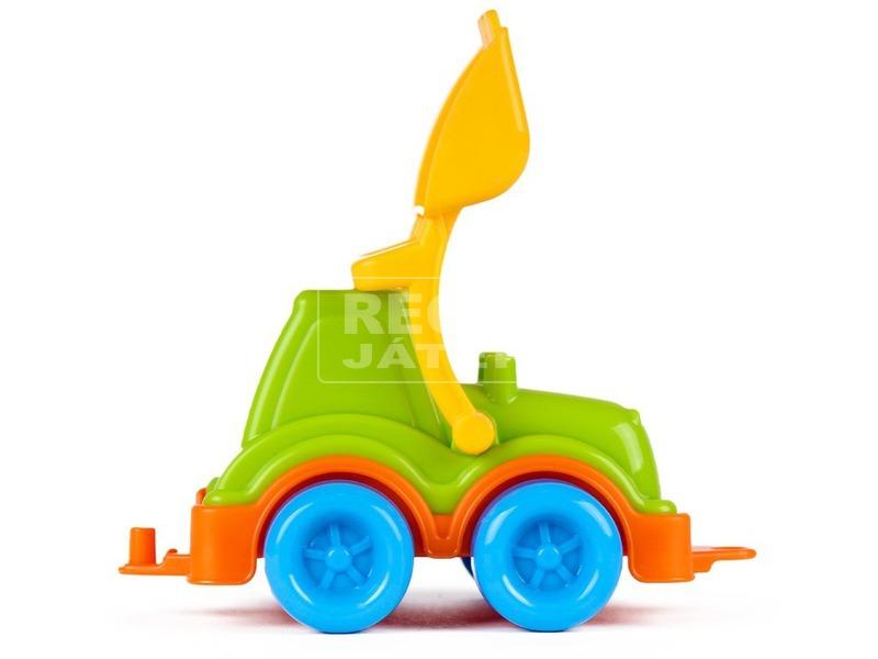 kép nagyítása Műanyag markolós traktor - zöld, 13 cm