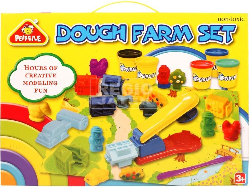 Farm 4 tégelyes gyurmakészlet