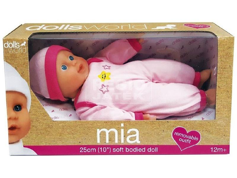 kép nagyítása Mia puha baba - 25 cm, többféle