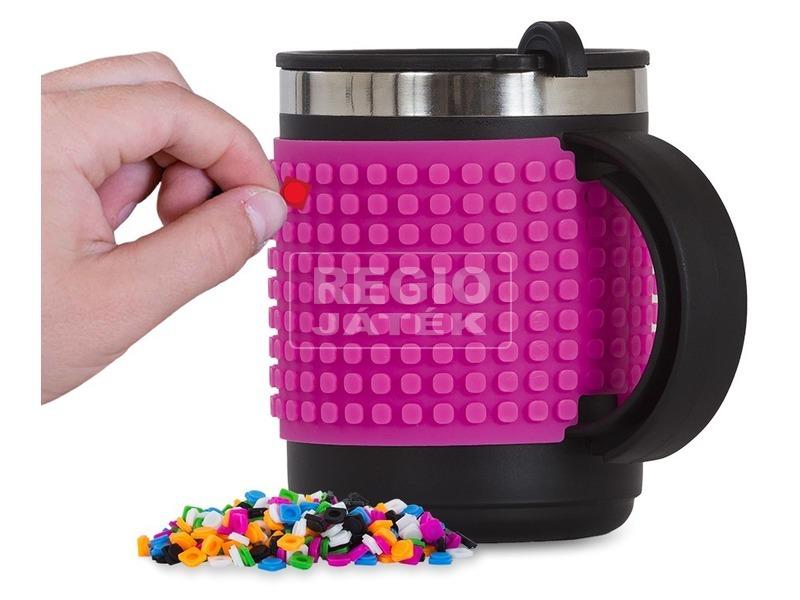 Pixie pink bögre 100 db pixellel, 400 ml