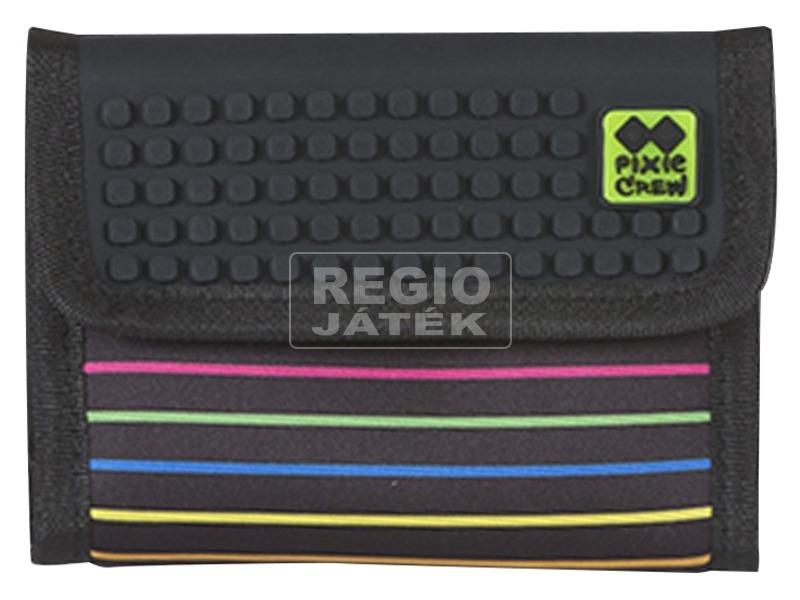 Pixie pénztárca - fekete, csíkos