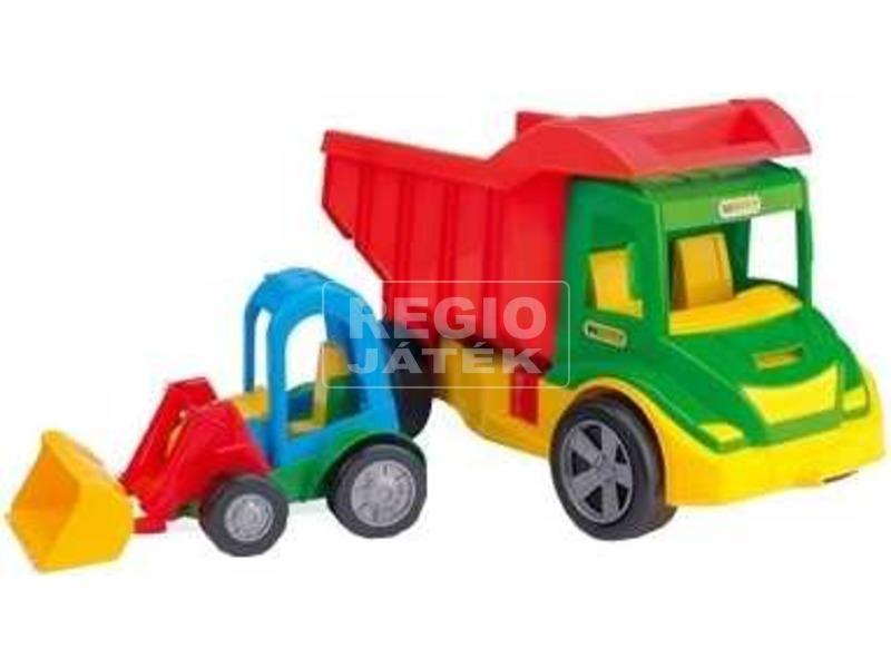 Wader Műanyag billenős teherautó markolóval