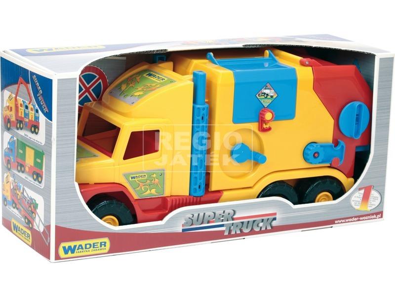 kép nagyítása Wader Super Truck kukásautó - 59 cm