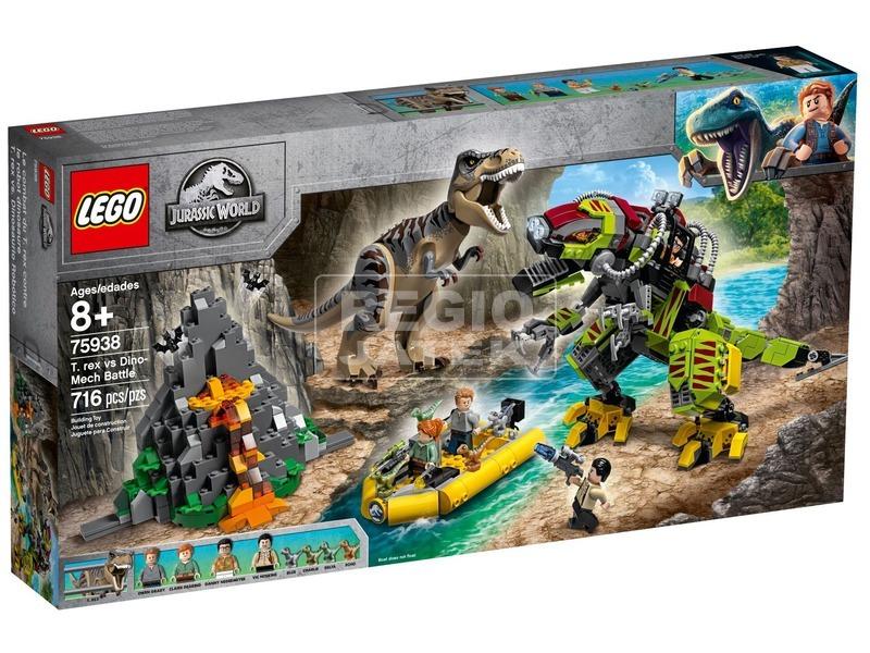 LEGO® Jurassic World T-Rex és Dino-Mech 75938