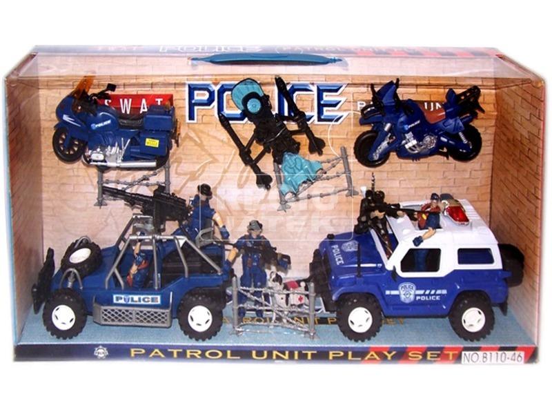Rendőrségi autó játékkészlet