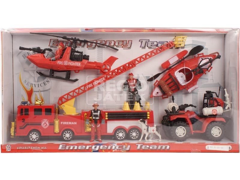 Tűzoltó készlet járművekkel
