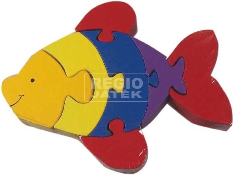 Színes halacska 7 darabos fa puzzle