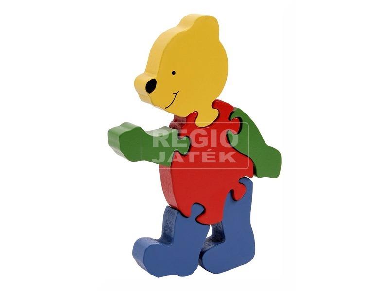 kép nagyítása Maci 6 darabos fa puzzle