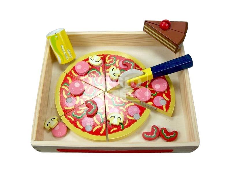 Pizza készlet fából