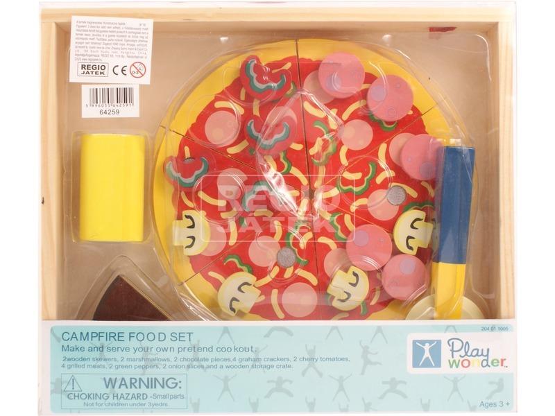 kép nagyítása Pizza készlet fából