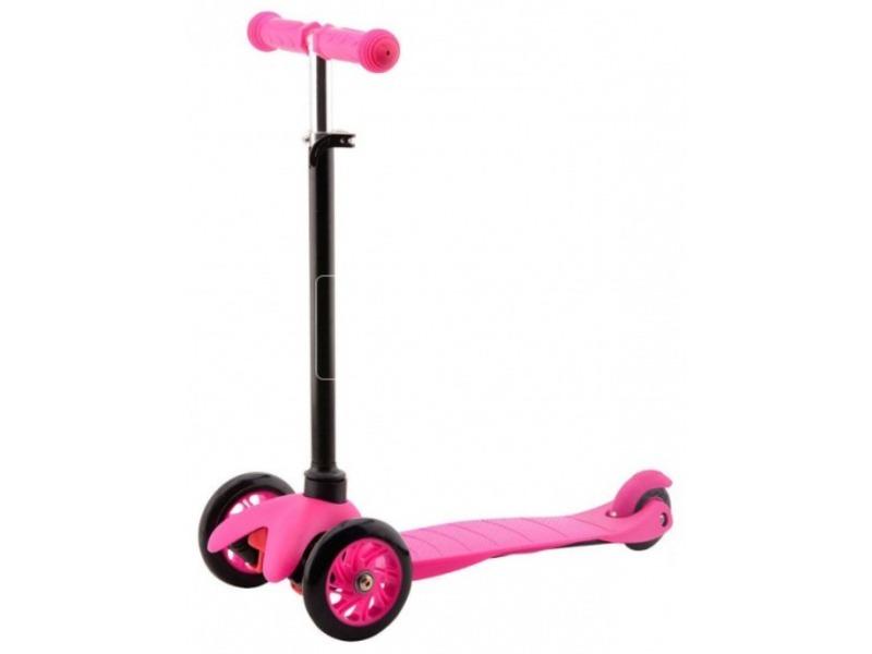 kép nagyítása Háromkerekű roller - rózsaszín, 68 cm